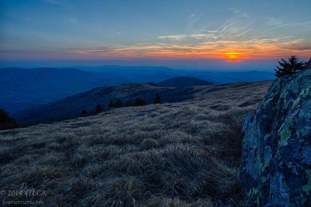Sunset on White Top Mountain
