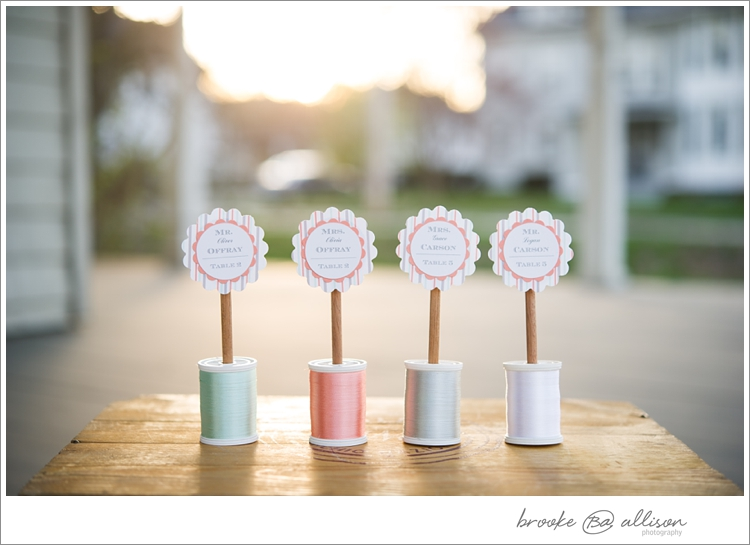 Amaze escort cards by  Little Random Details