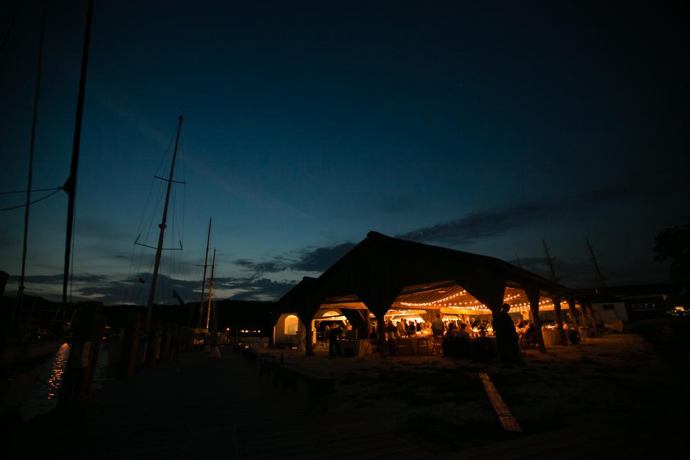 Mystic Boatshed Weddin at Night