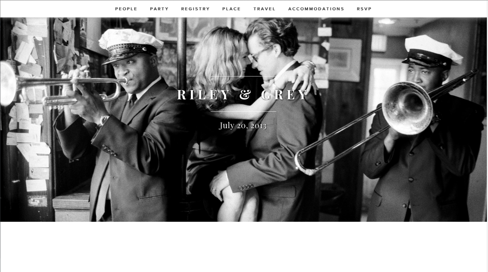 Wedding website riley & grey