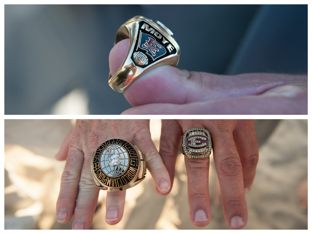 It's usually the ladies who are comparing ring sizes, but not in the case of Texas Football - it's all about the men here!