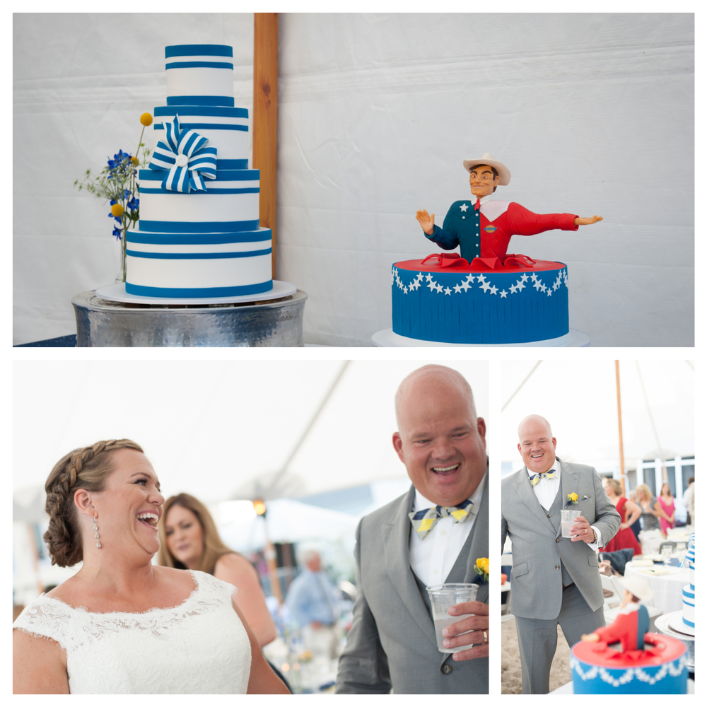 Katie wanted a Texas sized surprise for Nathan's Groom Cake, and I think you could say it worked with a little help from Lovely Cakes!
