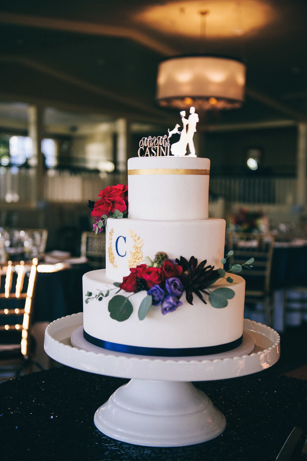 CT Wedding Inn at Longshore Amy Champagne Events Reception at Inn at Longshore Wedding Cake