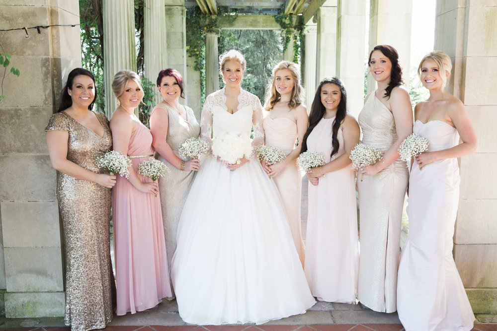 CT Wedding Eolia Mansion Amy Champagne Events Bridesmaids