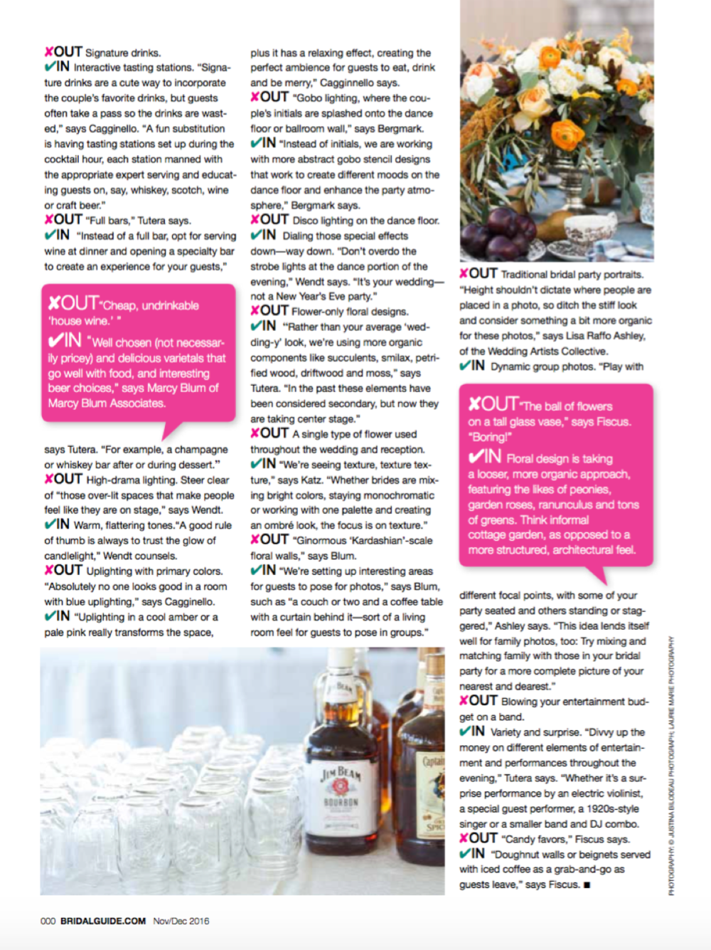 Amy Champagne Events Featured in Bridal Guide Magazine