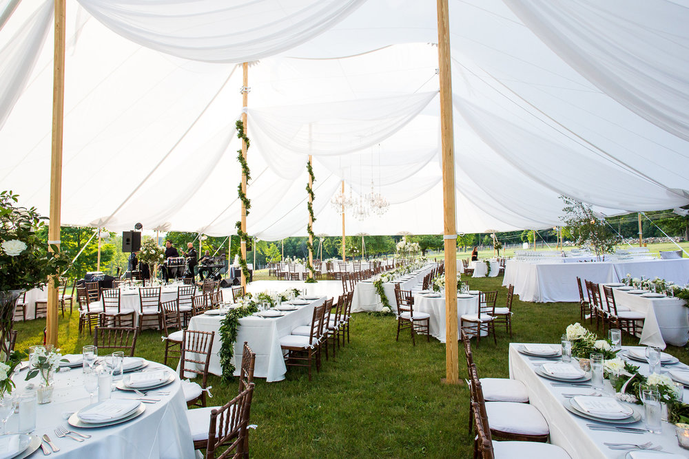 Black Tie Tented Wedding Candlelight Farms Fairfield County