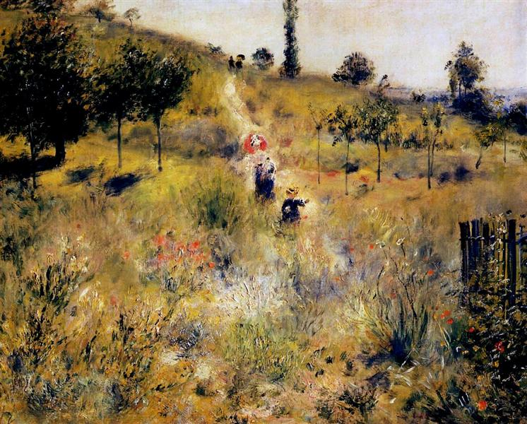 - Path Leading Through Tall Grass, 1877, Renoir
