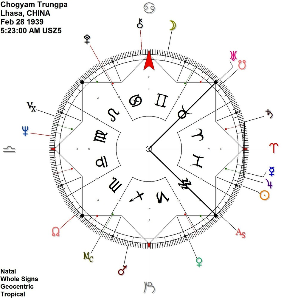 Crazy wisdom ambient astrology birth chart on 360 degree dial nvjuhfo Image collections