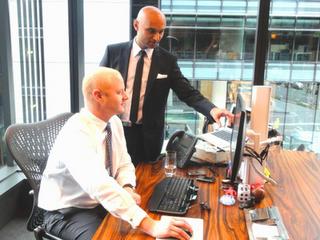 Commonwealth Bank CEO, Ian Narev with Sasha Jovanovic