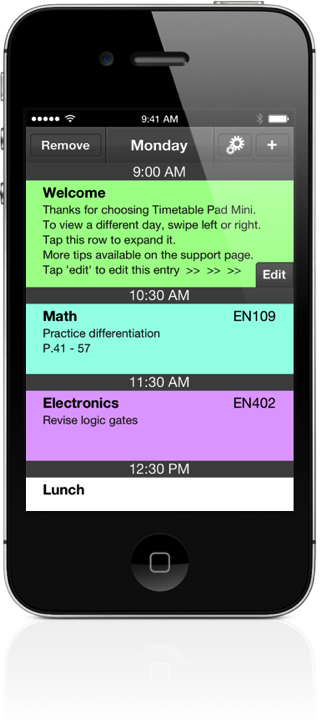 Timetable Pad Screenshot