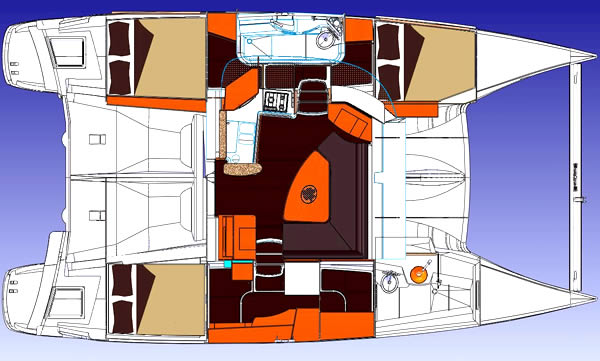 Lipari 41 Owners Version Layout