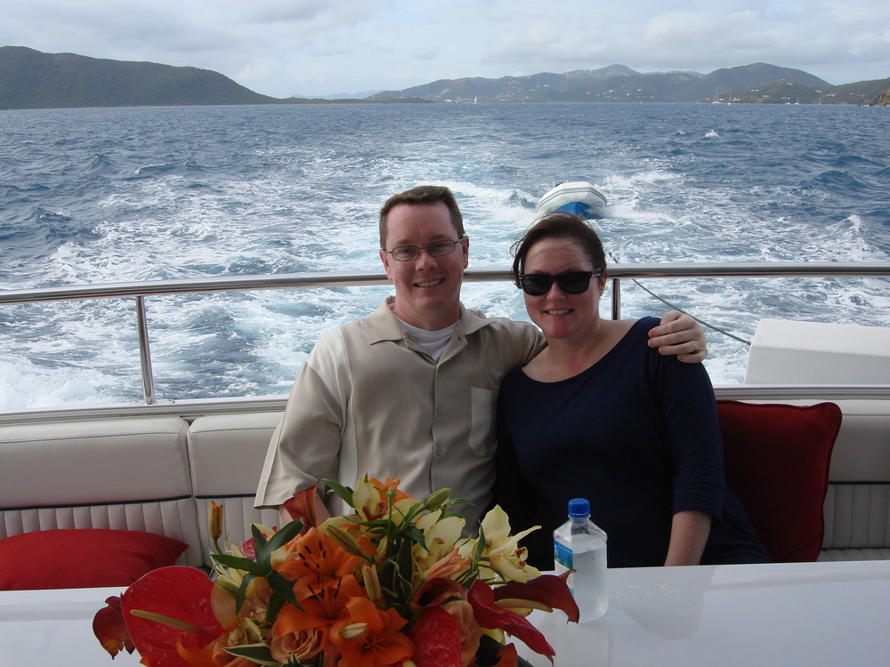 Robyn and Sean Cruising the BVI
