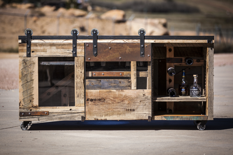 Reclaimed Wood Bar Cabinet WB Designs - Reclaimed Wood Bar Cabinet WB Designs