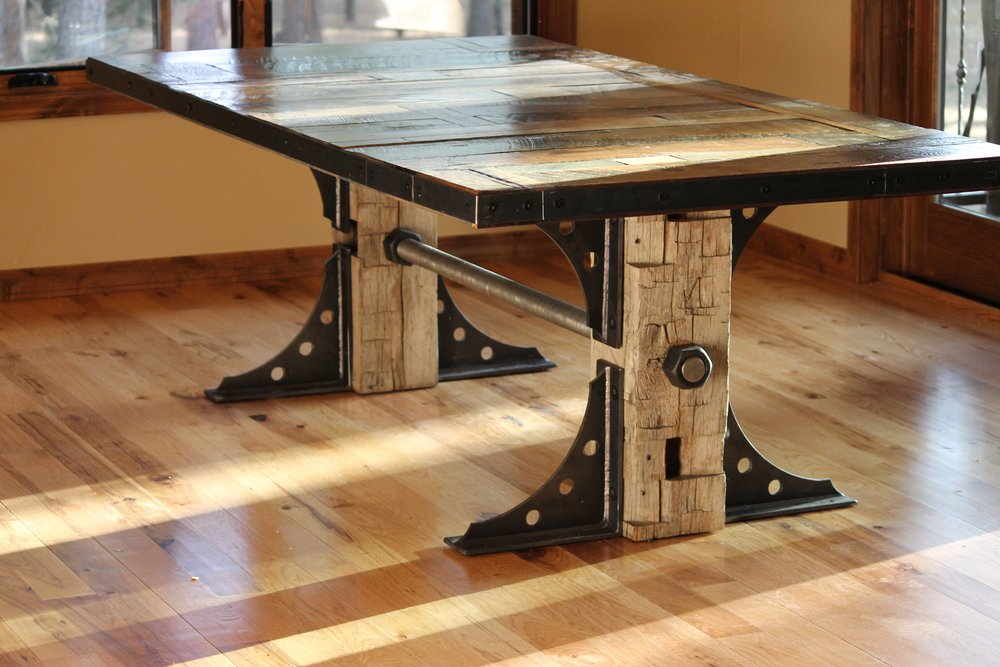 Reclaimed Industrial Tables And Crank Tables From Twenty1Five Are Taking  Over Summit County, Telluride, Aspen, And The Ski Towns Of Colorado.