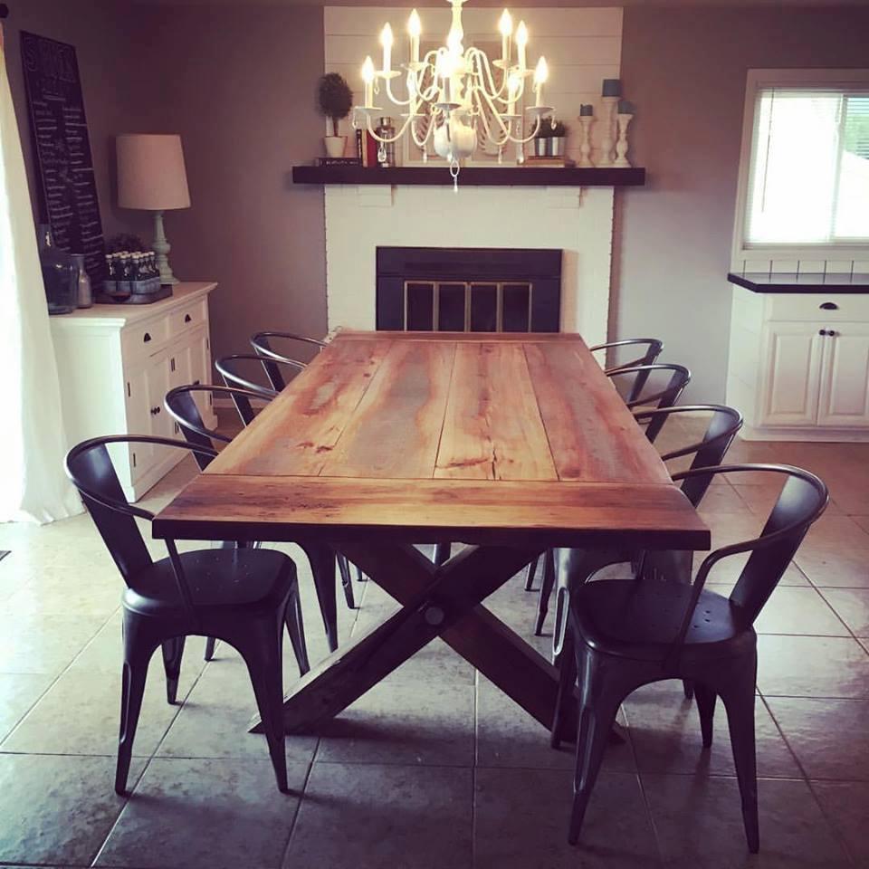 reclaimed wood farmhouse table