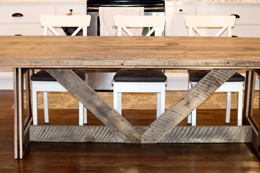 High Quality The Twenty1Five Reclaimed Wood Farmhouse Style Table Is One Of Our Most  Popular Dining Tables. We Have Sourced Truly Reclaimed Wood Materials From  Farms, ...