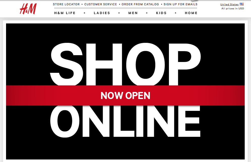 H&M online shopping FINALLY available in the U.S.