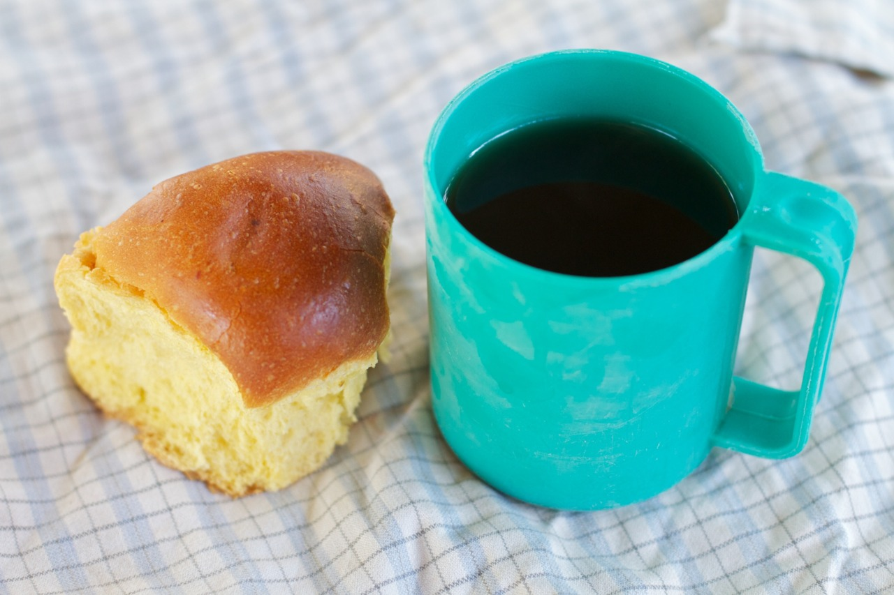 "Chai Time (Morning Tea). Everyday we get yellow bread and chai. Some call the yellow bread ""scones"", but yellow bread is far more accurate. No one seems to know what it's made of, or why it's yellow. The chai is super sweet, but also very gingery. I'm not a fan, I tend to dilute it."