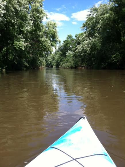 Kayaking on the Big Sioux River, Labor Day 2014 by Miranda B.