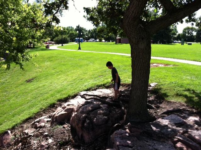 M. exploring the Proterozoic quartzite by Miranda B.