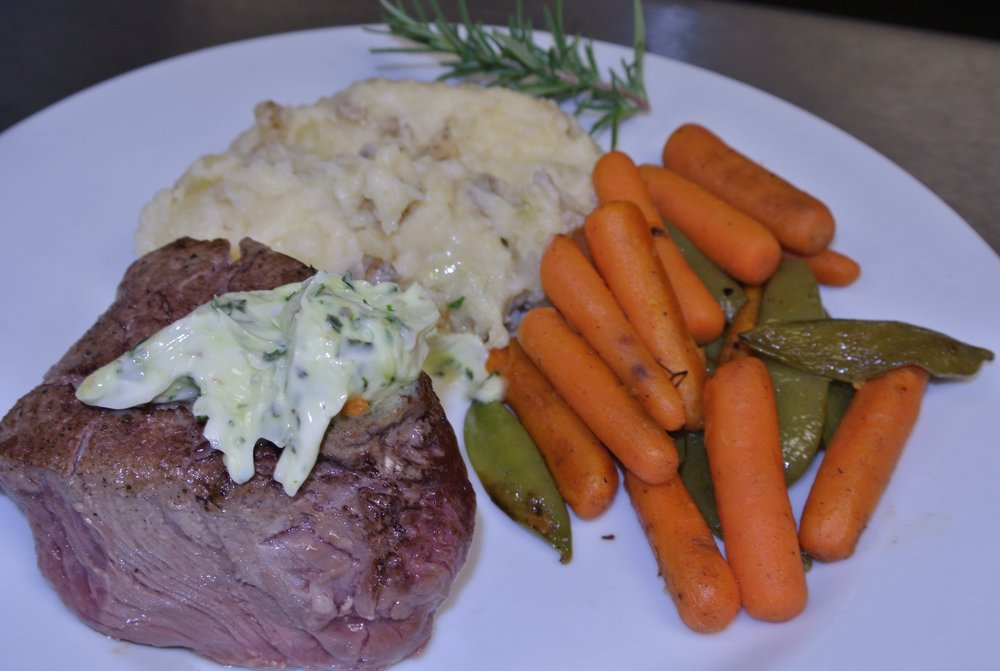 Filet with Herbed Butter