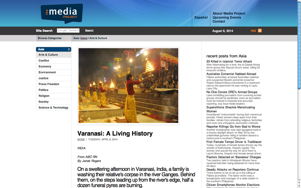 Varanasi: A living history. The Media Project.