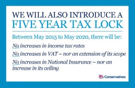 The Tory tax pledge from the 2015 election