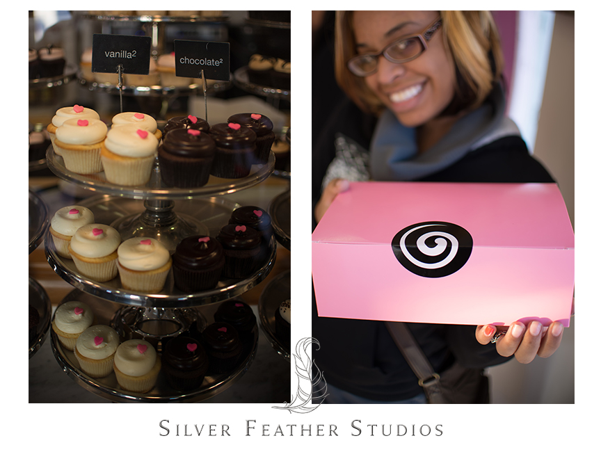 Gorgeously decorated Georgetown Cupcakes in their signature pink box!