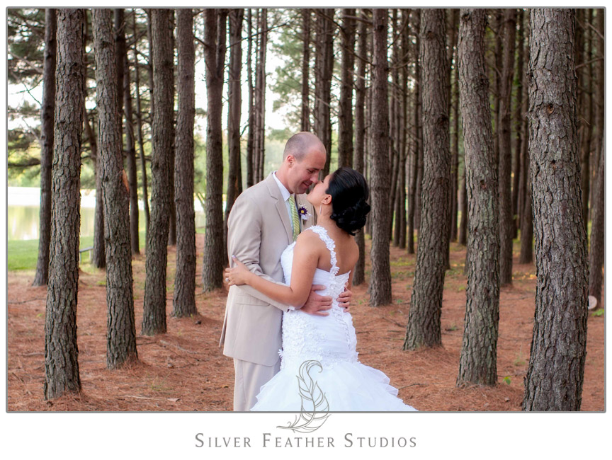Jonathan  & Araceli's Mebane, NC Wedding at Pine Lake Pavilion. Photography & Cinematography by Silver Feather Studios.