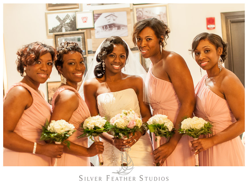 The bridal party at the Conshohocken Marriott Hotel in Pennsylvania.
