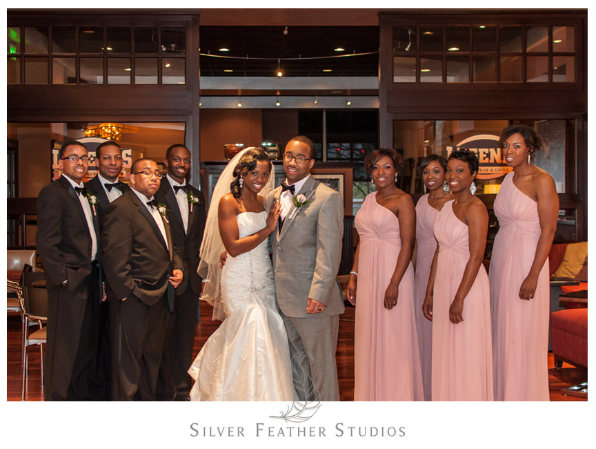 The bridal party looking fabulous at the Marriott Hotel, Pennsylvania.