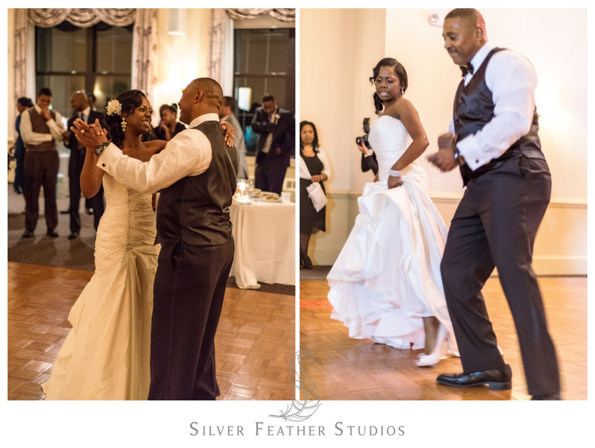 Father & daughter dance at the Spring Mill Ballroom - by Philadelphia Wedding Photographer.