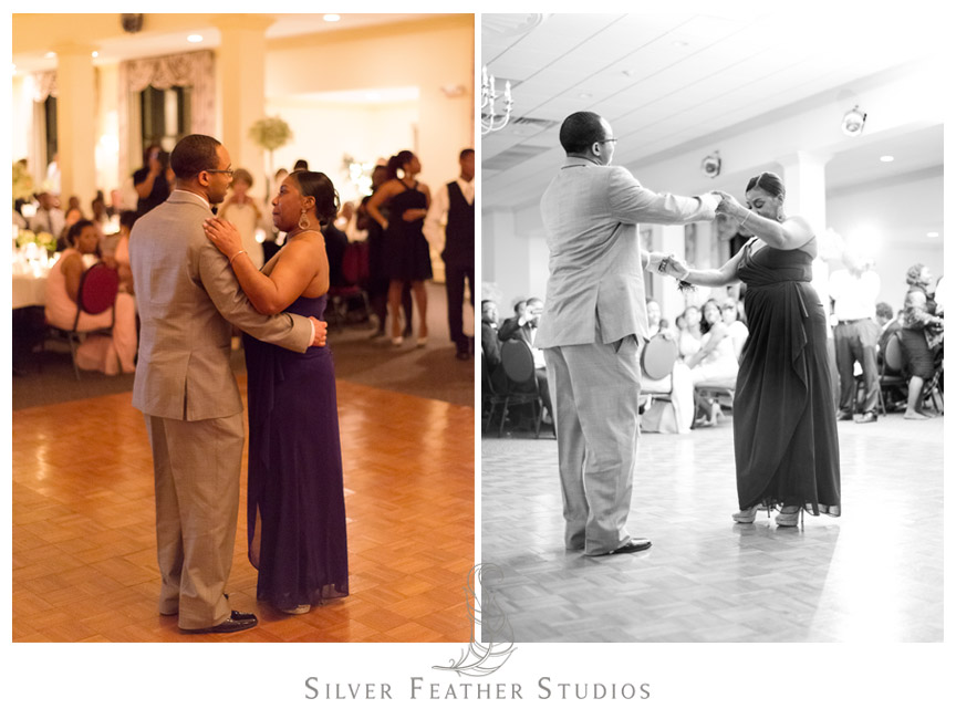 Mother and son dance at the Spring Mill Ballroom, Pennsylvania.