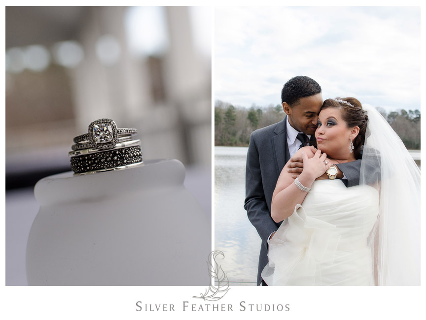 Stunning rings and the Kim Face - Holly Springs Wedding Videographer and Photographer