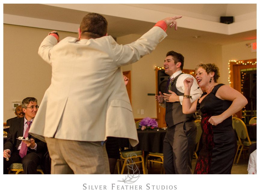 Melbourne Entertainment brings down the house as the DJ at this Bass Lake Wedding.