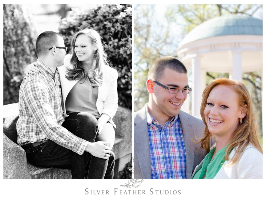 Erin and Adam enjoy a lovely Chapel Hill engagement session. © Silver Feather Studios, Chapel Hill Wedding Videography and  Photography
