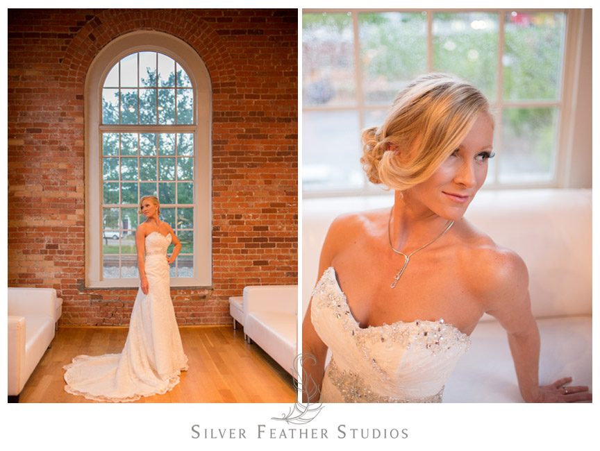 Bridal session at The Cotton Room in Durham North Carolina.