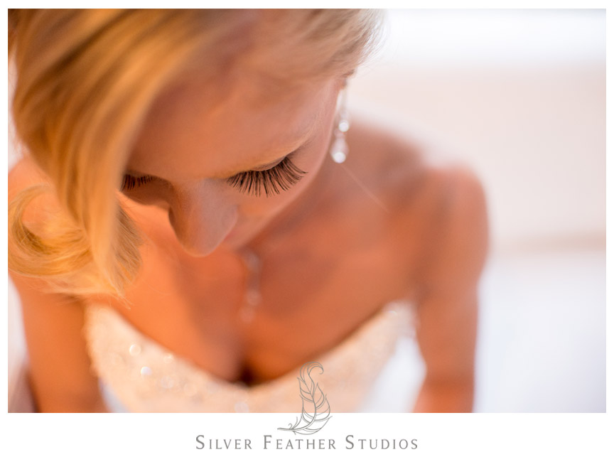 Gorgeous makeup and hair on bride at The Cotton Room in Durham, NC.