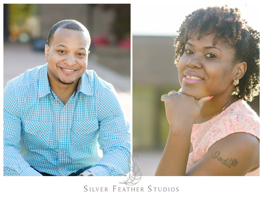 Portrait photos of Ricky and India in Burlington North Carolina.