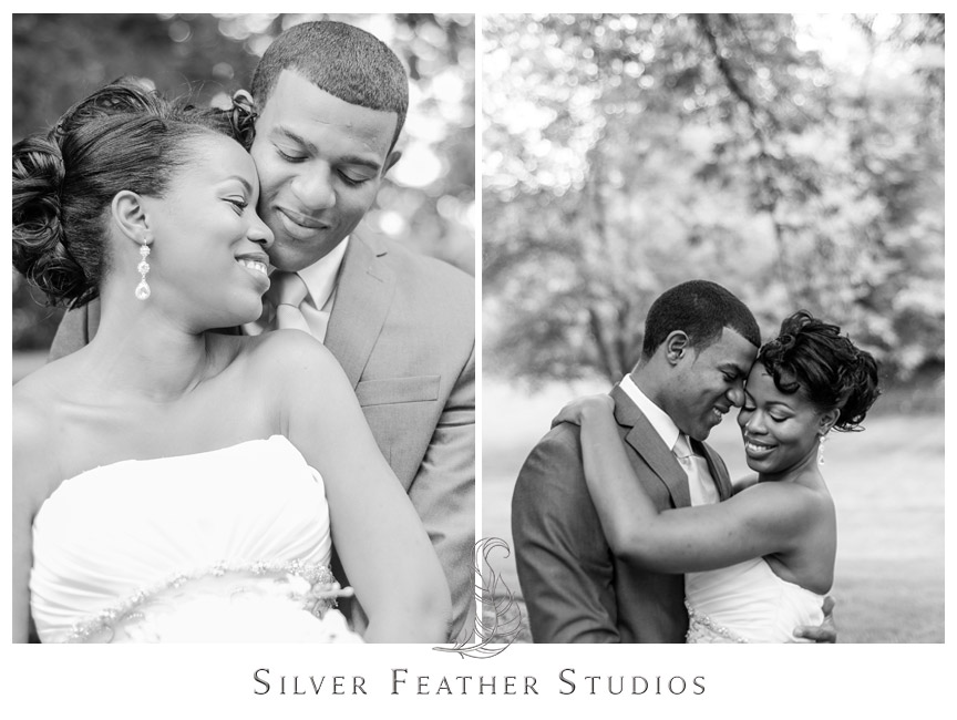 Juliet and Marc pose by the park near the Foust building. Photography by Silver Feather Studios.