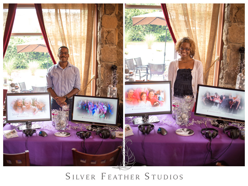 Silver Feather Studios cinematography booth at the Intimate Bridal Affair 2013.