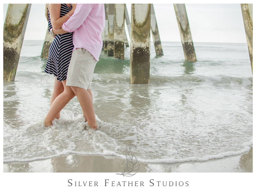 Wrightsville Beach Engagement Session by Silver Feather Studios