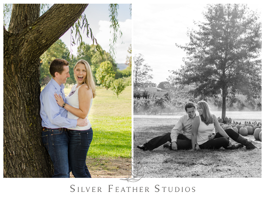Granddad's Apple's Engagement Session in Hendersonville, NC.   © Silver Feather Studios, Burlington Engagement Videography & Photography
