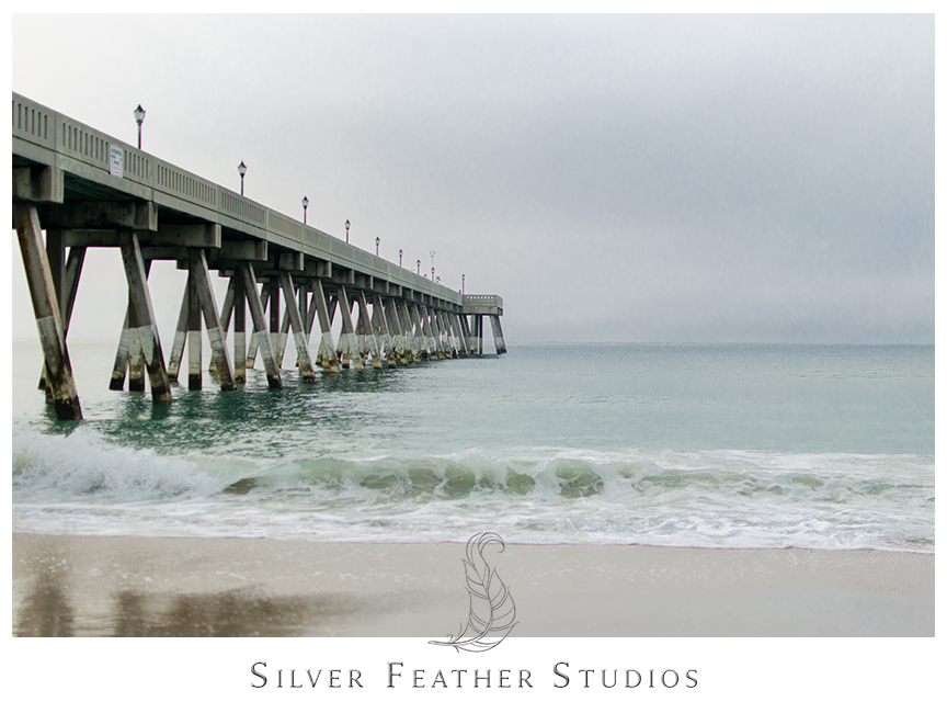Johnnie Mercer's Fishing pier at Wrightsville Beach in Wilmington, NC. © Silver Feather Studios, Burlington, NC Wedding Photography & Videography