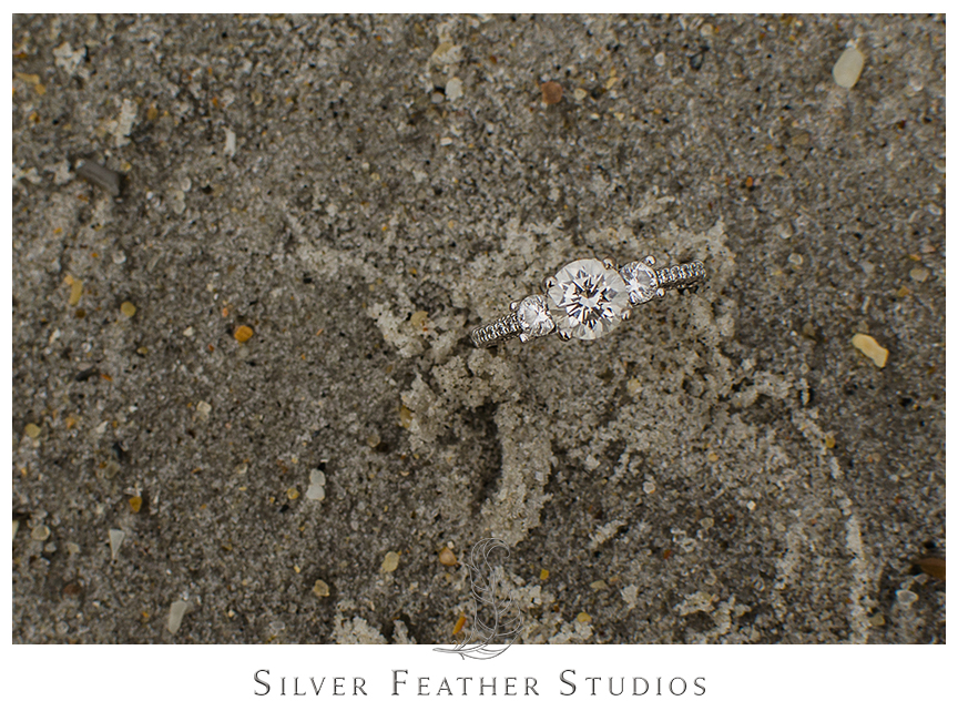 Romantic Wrightsville beach engagement photography .© Silver Feather Studios, Burlington, NC Wedding Photography & Videography