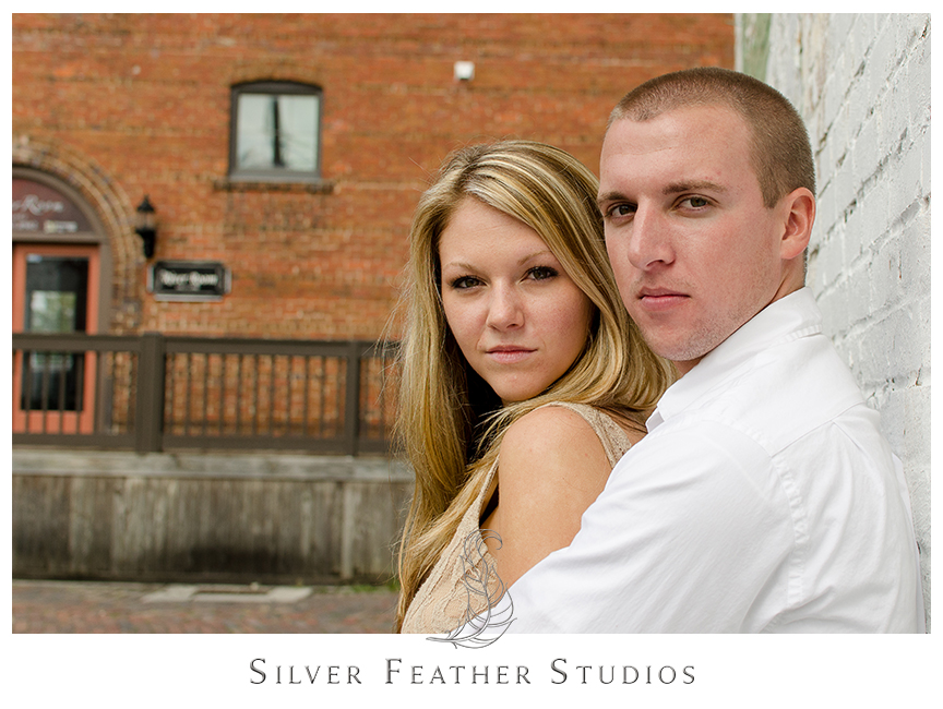 Engagement session in historical downtown Wilmington with Megan and Jay.  © Silver Feather Studios, Burlington, NC Wedding Photography & Videography