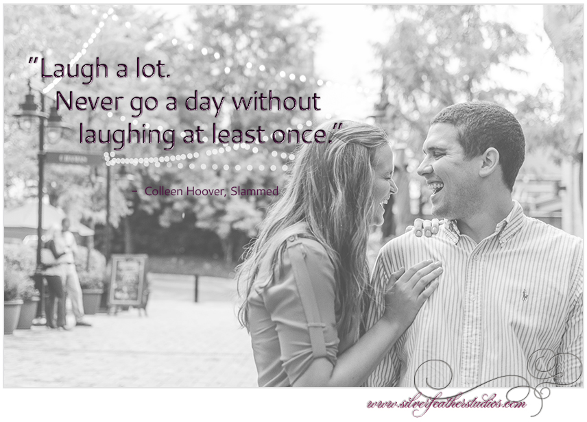 Quote by Colleen Hoover's novel Slammed. Background image © Silver Feather Studios, North Carolina Wedding Videography and  Photography