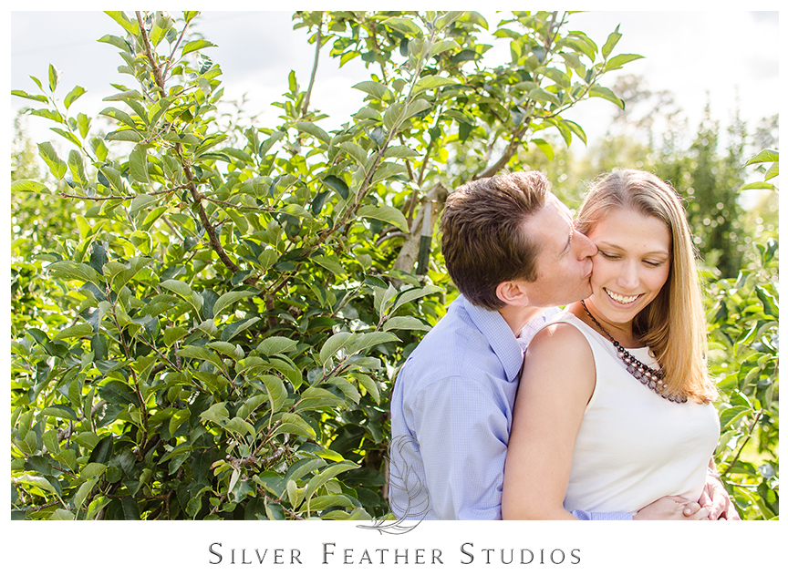 Engagement session at Granddad's Apple  Orchard in Hendersonville, NC. © Silver Feather Studios, Burlington, North Carolina Wedding Photography & Videography