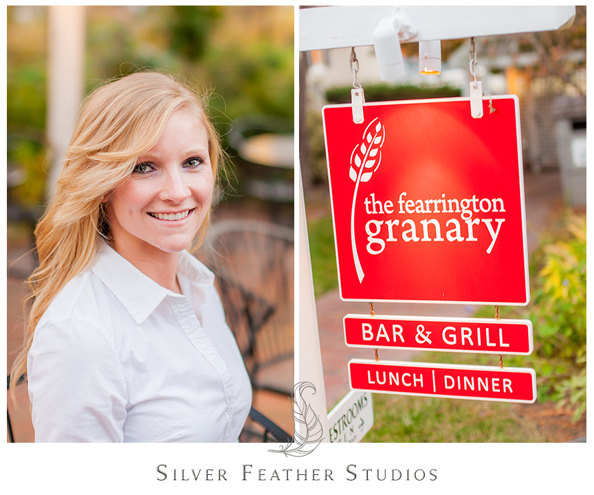 Gorgeous bride Tiffany at her Fearrington Village engagement session in Pittsboro, NC. © Silver Feather Studios, Chapel Hill Wedding Videography and Photography