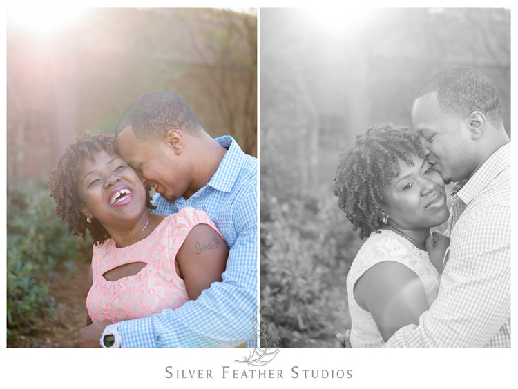 Erin & Adam's UNC Chapel Hill Engagement Session. © Silver Feather Studios, North Carolina Wedding Photography & Videography